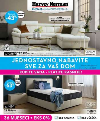 Harvey Norman katalog - 26.01.2021. - 16.02.2021.