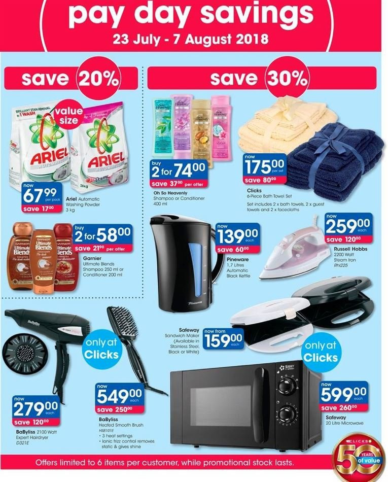 Clicks catalogue  - 07.23.2018 - 08.07.2018. Page 47.