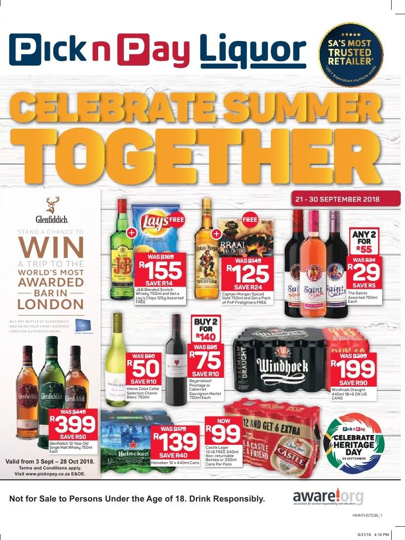 Pick n Pay catalogue  - 09.21.2018 - 09.30.2018. Page 1.