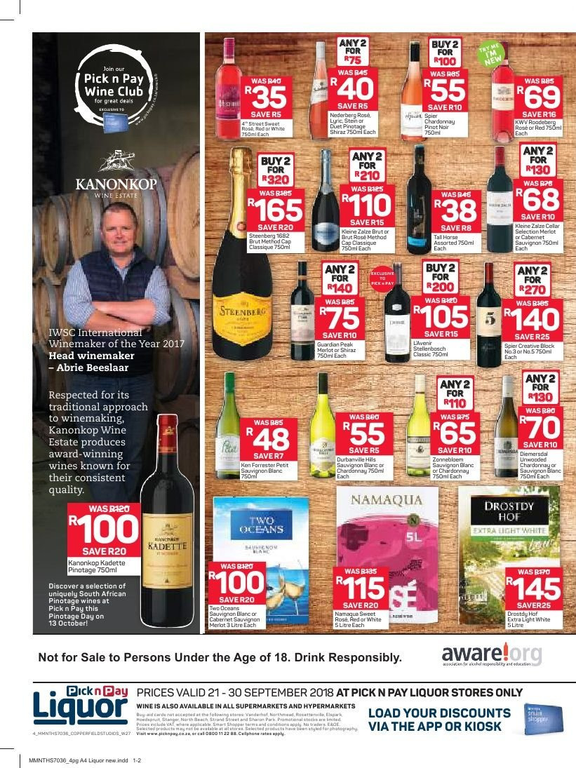 Pick n Pay catalogue  - 09.21.2018 - 09.30.2018. Page 4.