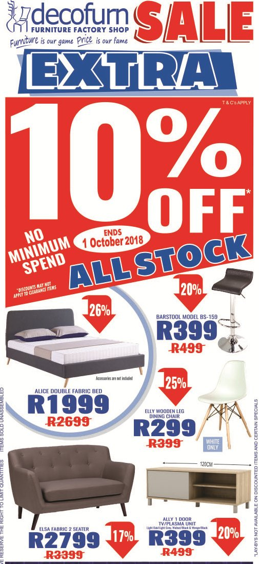 Decofurn Factory Shop catalogue  - 09.26.2018 - 10.01.2018. Page 1.