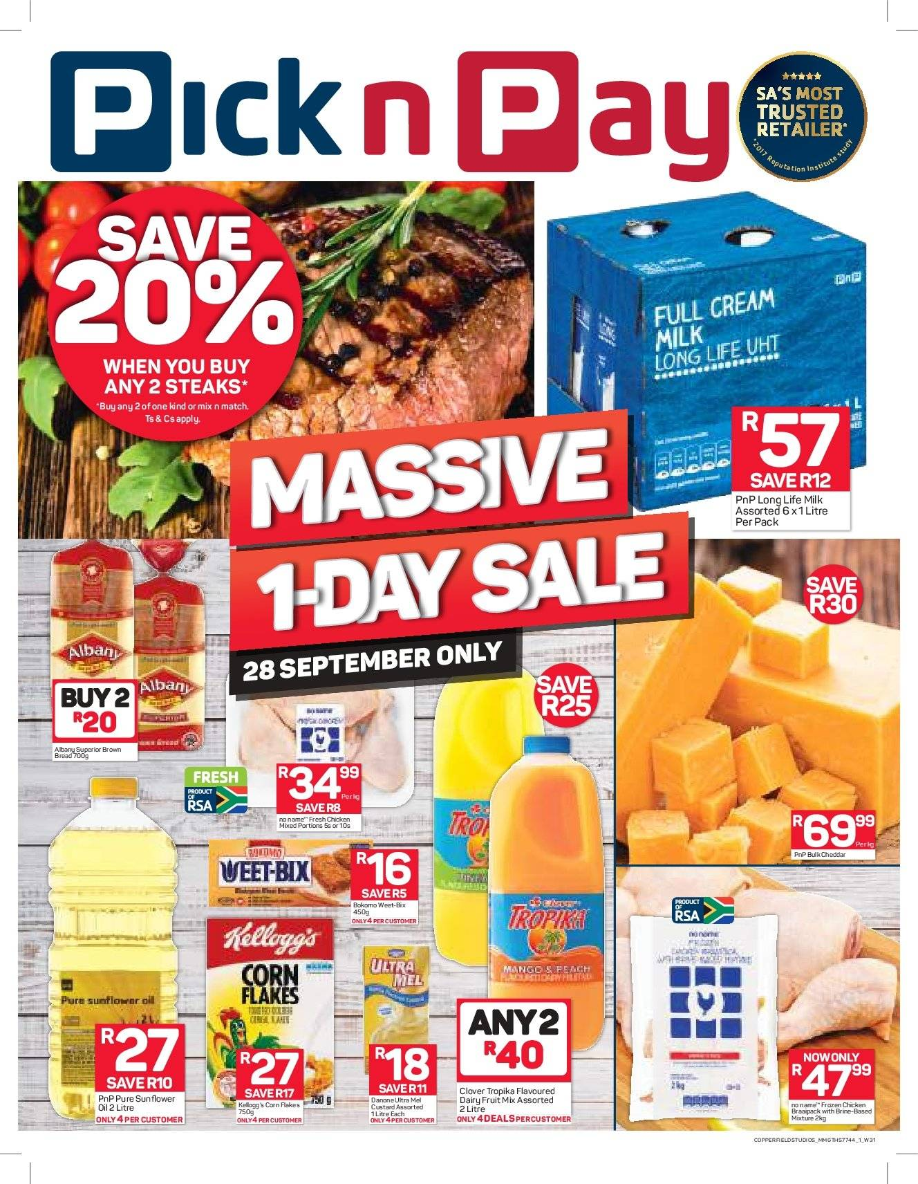 Pick n Pay catalogue  - 09.28.2018 - 09.28.2018. Page 1.