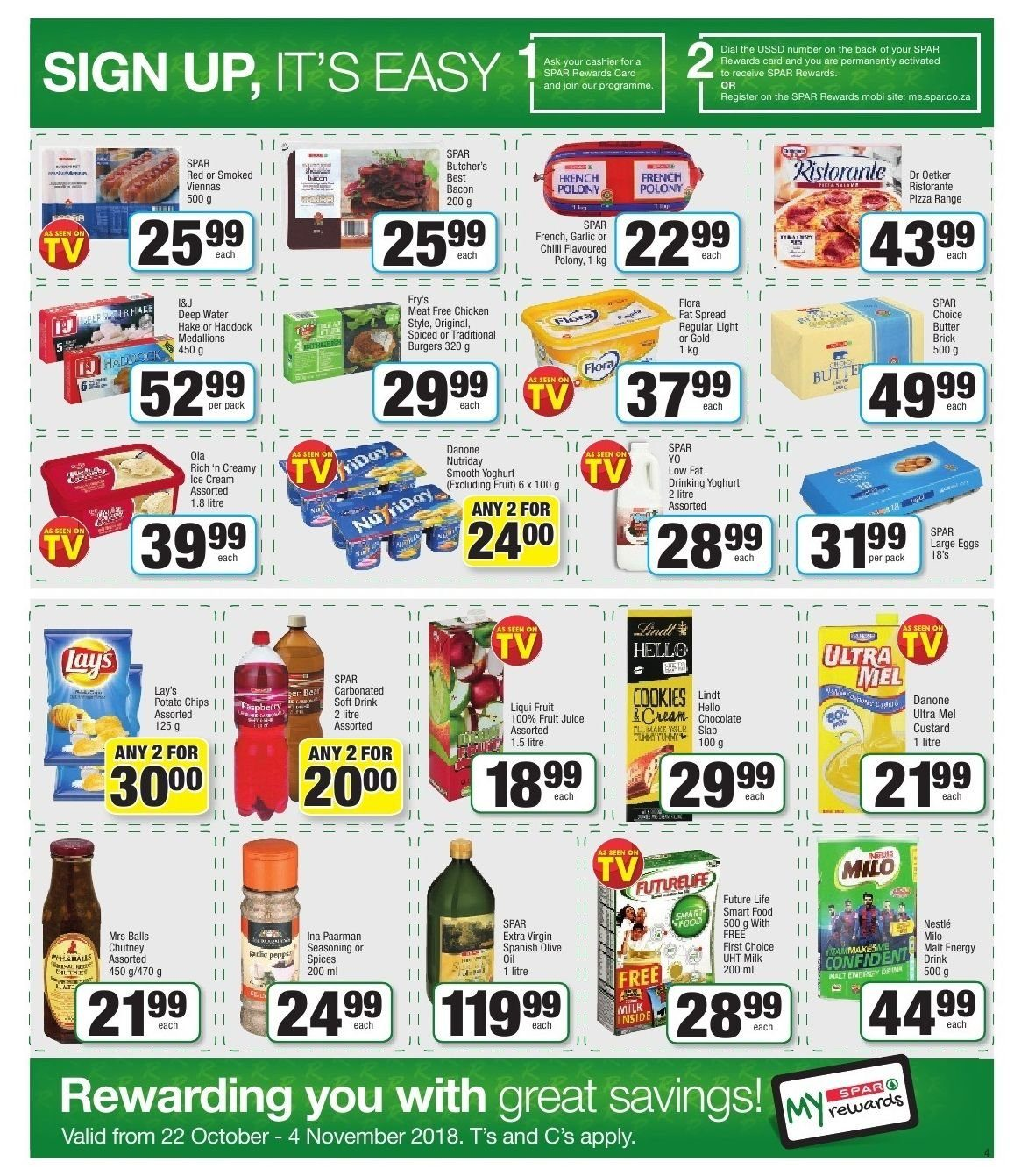 SPAR catalogue  - 10.22.2018 - 11.04.2018. Page 4.
