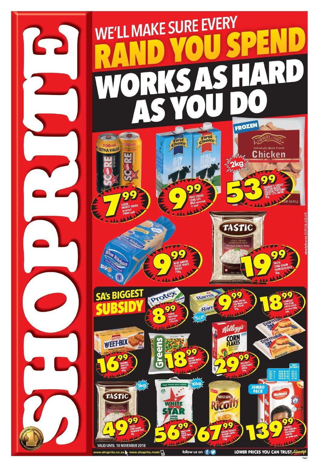 Shoprite catalogue  - 10.22.2018 - 11.04.2018. Page 1.