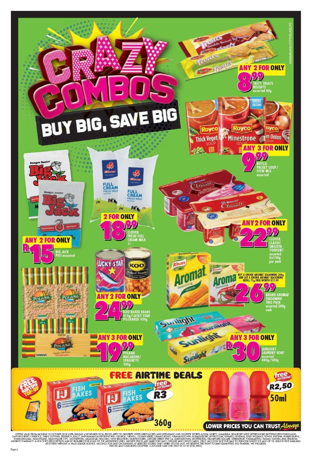 Shoprite catalogue  - 10.22.2018 - 11.04.2018. Page 6.