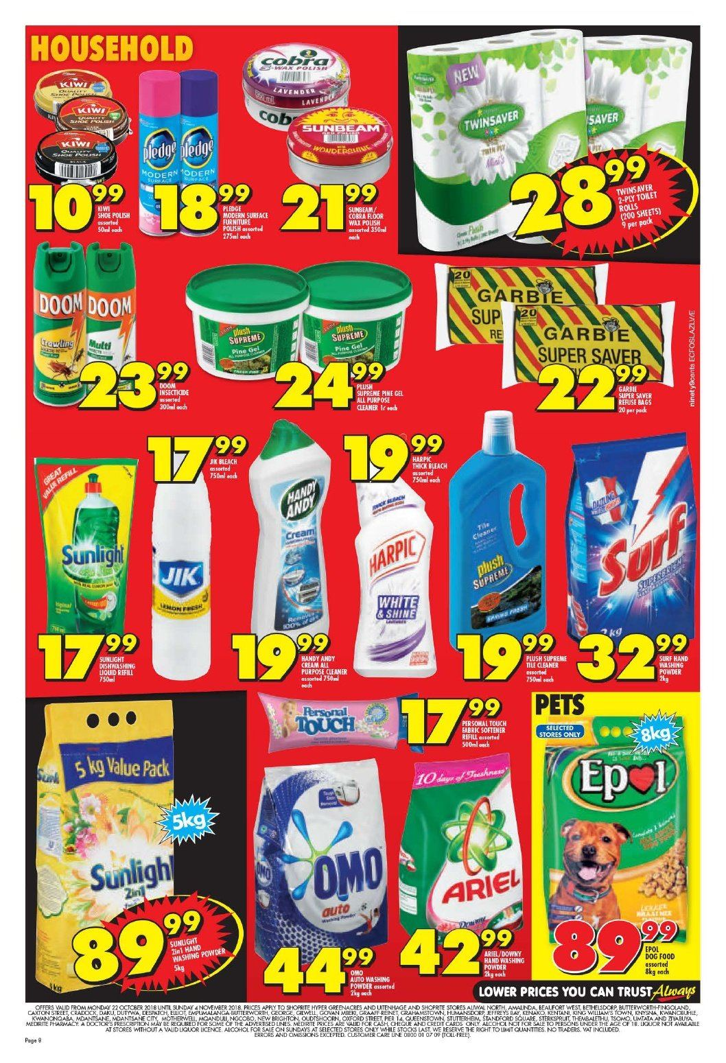 Shoprite catalogue  - 10.22.2018 - 11.04.2018. Page 8.