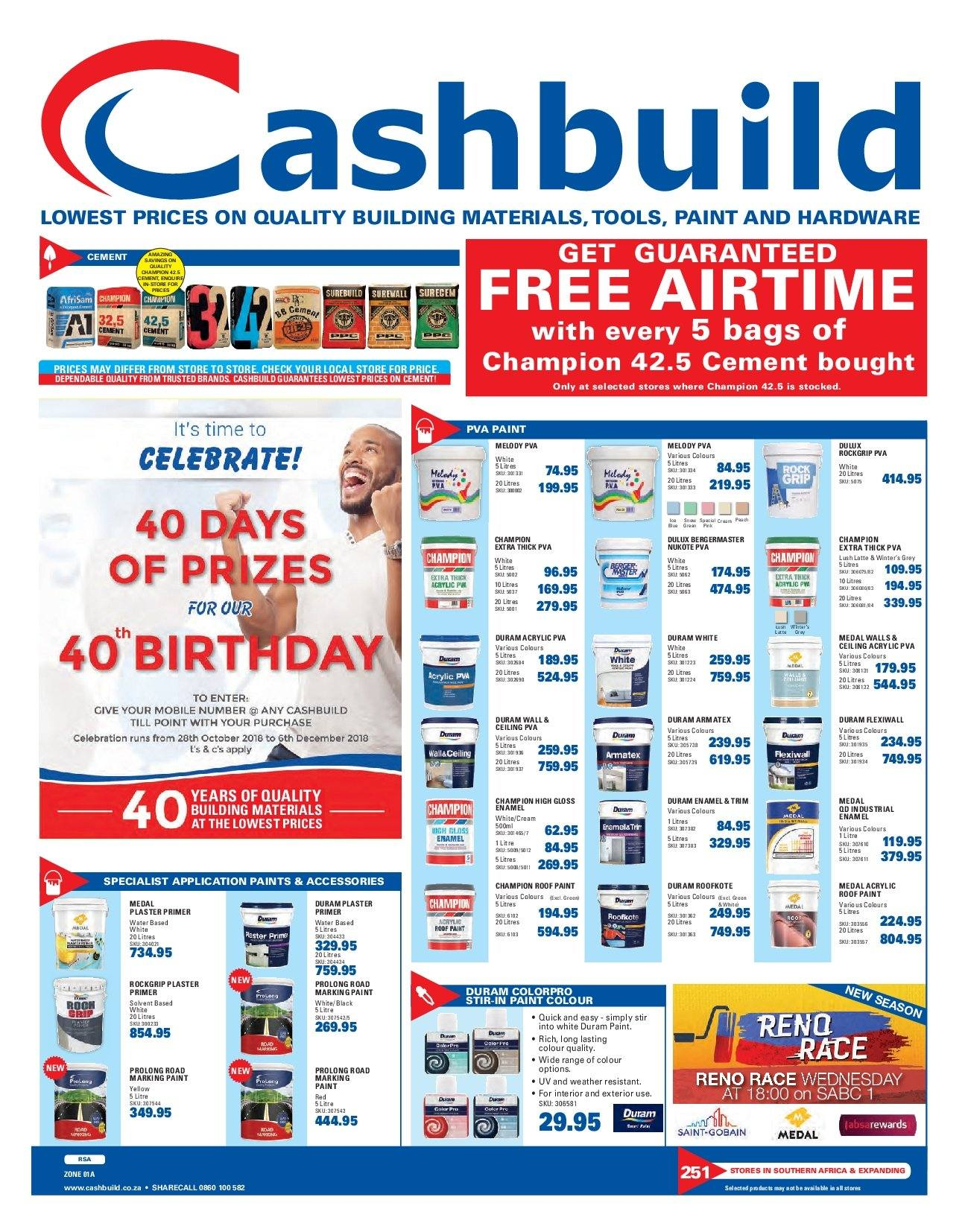 Cashbuild catalogue  - 10.22.2018 - 11.04.2018. Page 1.