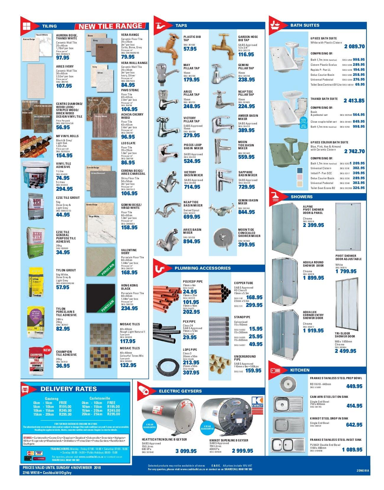 Cashbuild catalogue  - 10.22.2018 - 11.04.2018. Page 4.