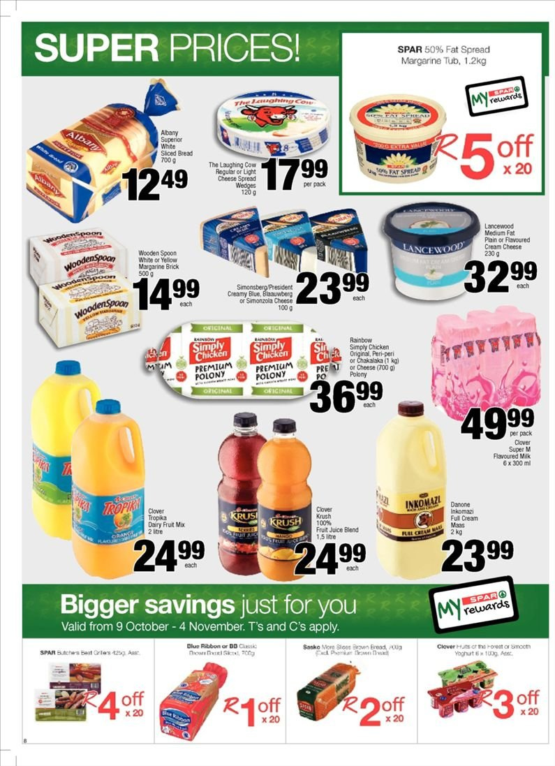 SPAR catalogue  - 10.23.2018 - 11.04.2018. Page 8.