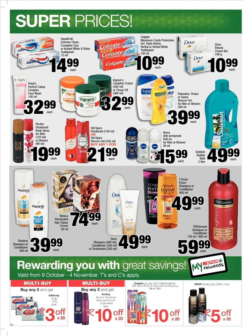 SPAR catalogue  - 10.23.2018 - 11.04.2018. Page 12.