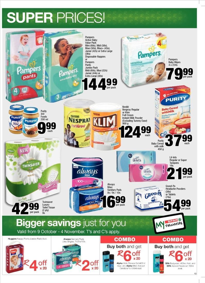 SPAR catalogue  - 10.23.2018 - 11.04.2018. Page 13.