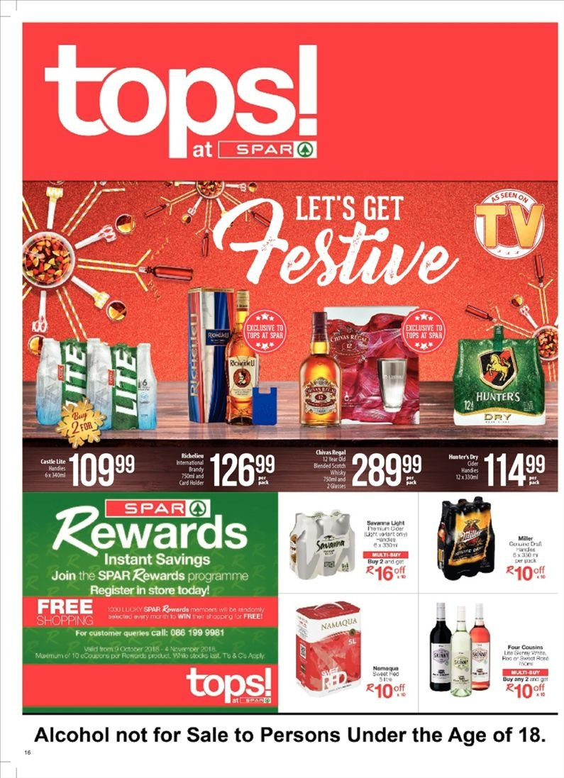 SPAR catalogue  - 10.23.2018 - 11.04.2018. Page 16.