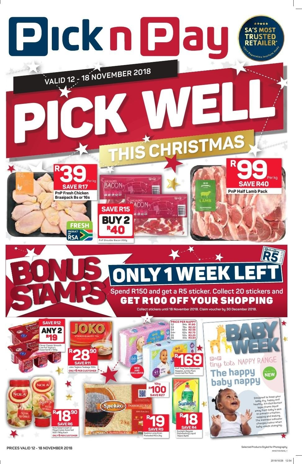 Pick n Pay catalogue  - 11.12.2018 - 11.18.2018. Page 1.