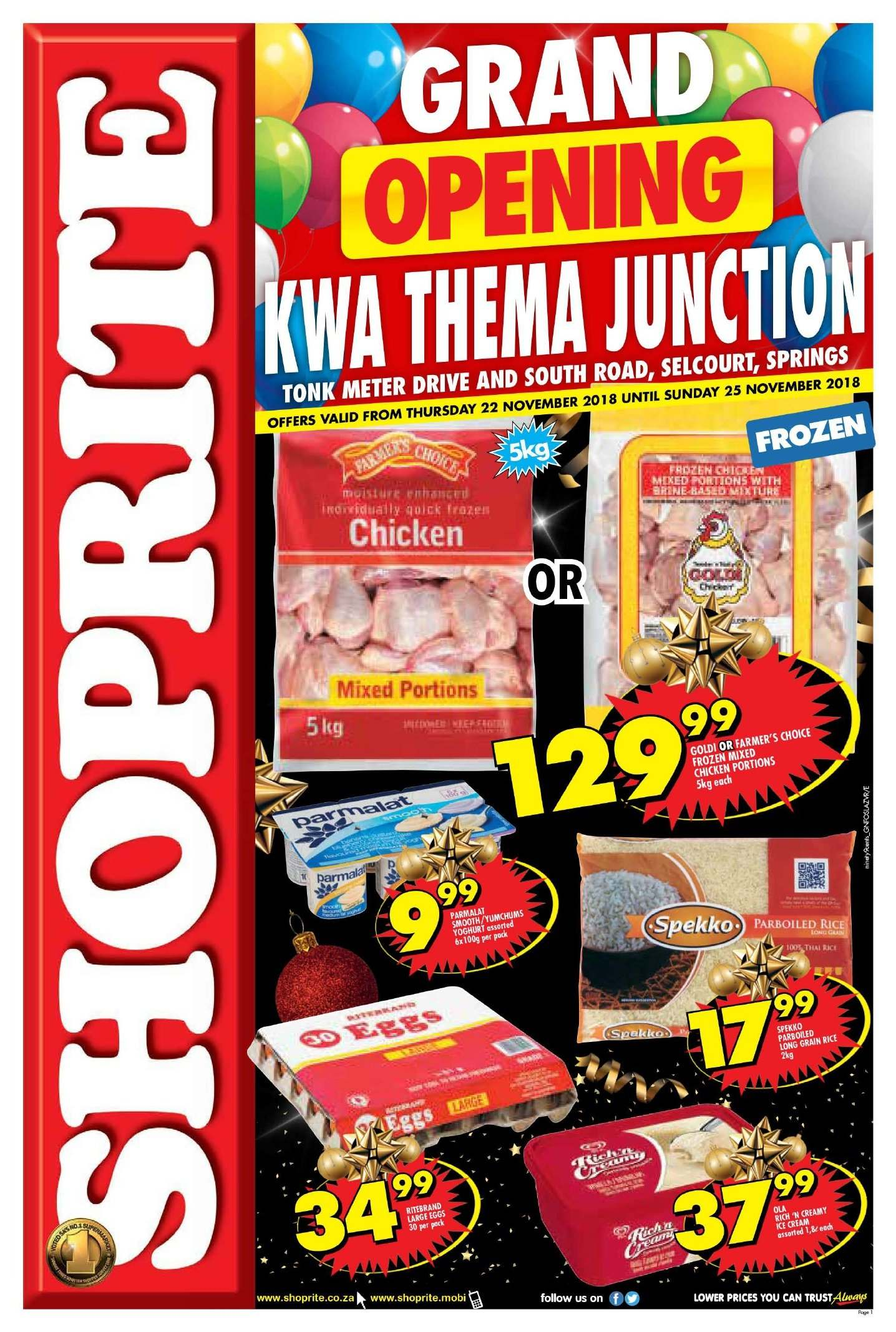 Shoprite catalogue  - 11.22.2018 - 11.25.2018. Page 1.