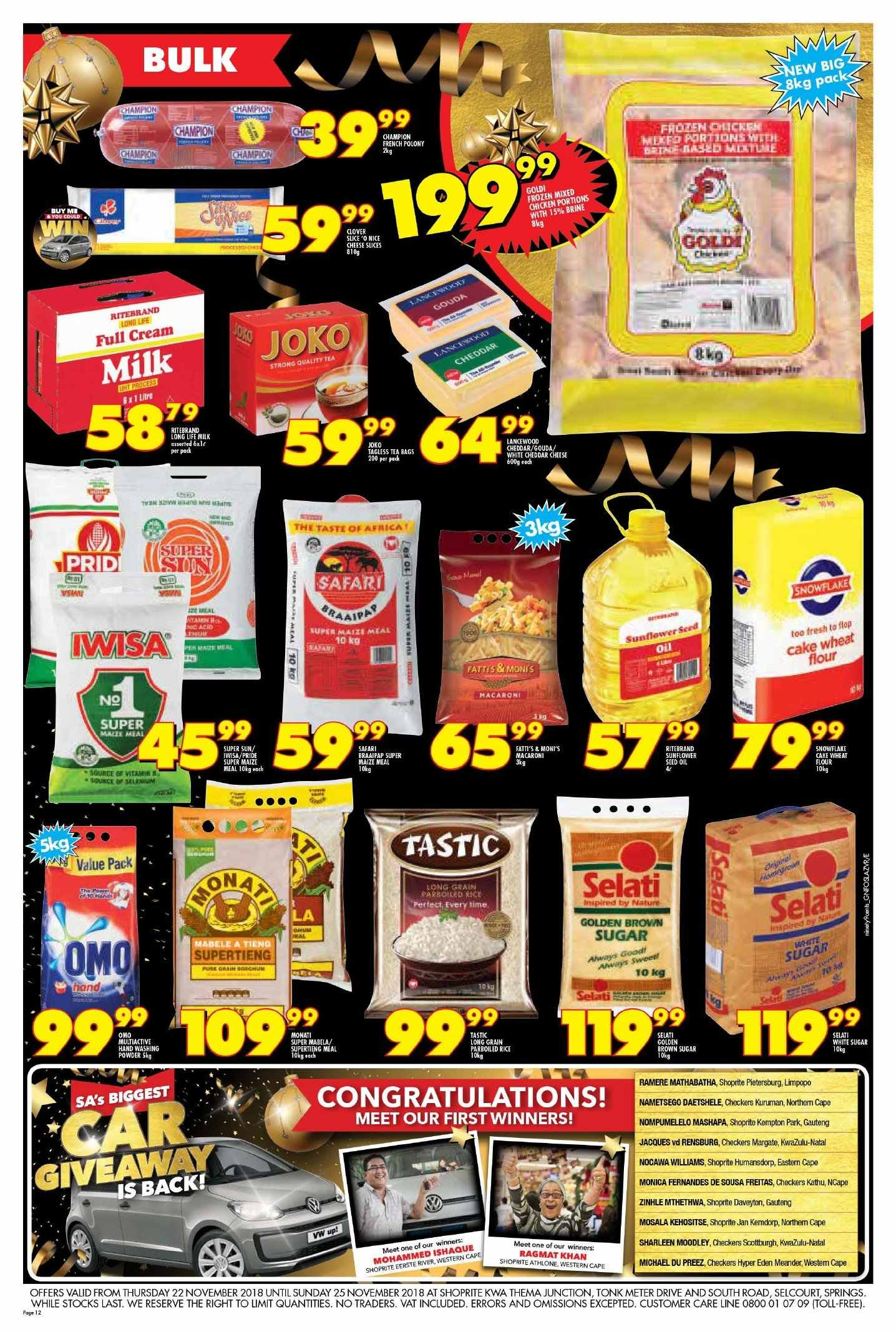 Shoprite catalogue  - 11.22.2018 - 11.25.2018. Page 12.