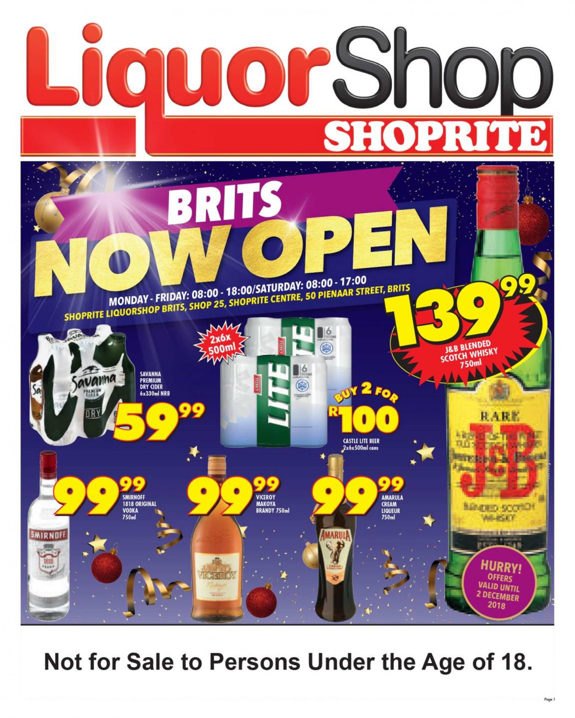 Shoprite catalogue  - 11.23.2018 - 12.02.2018. Page 1.