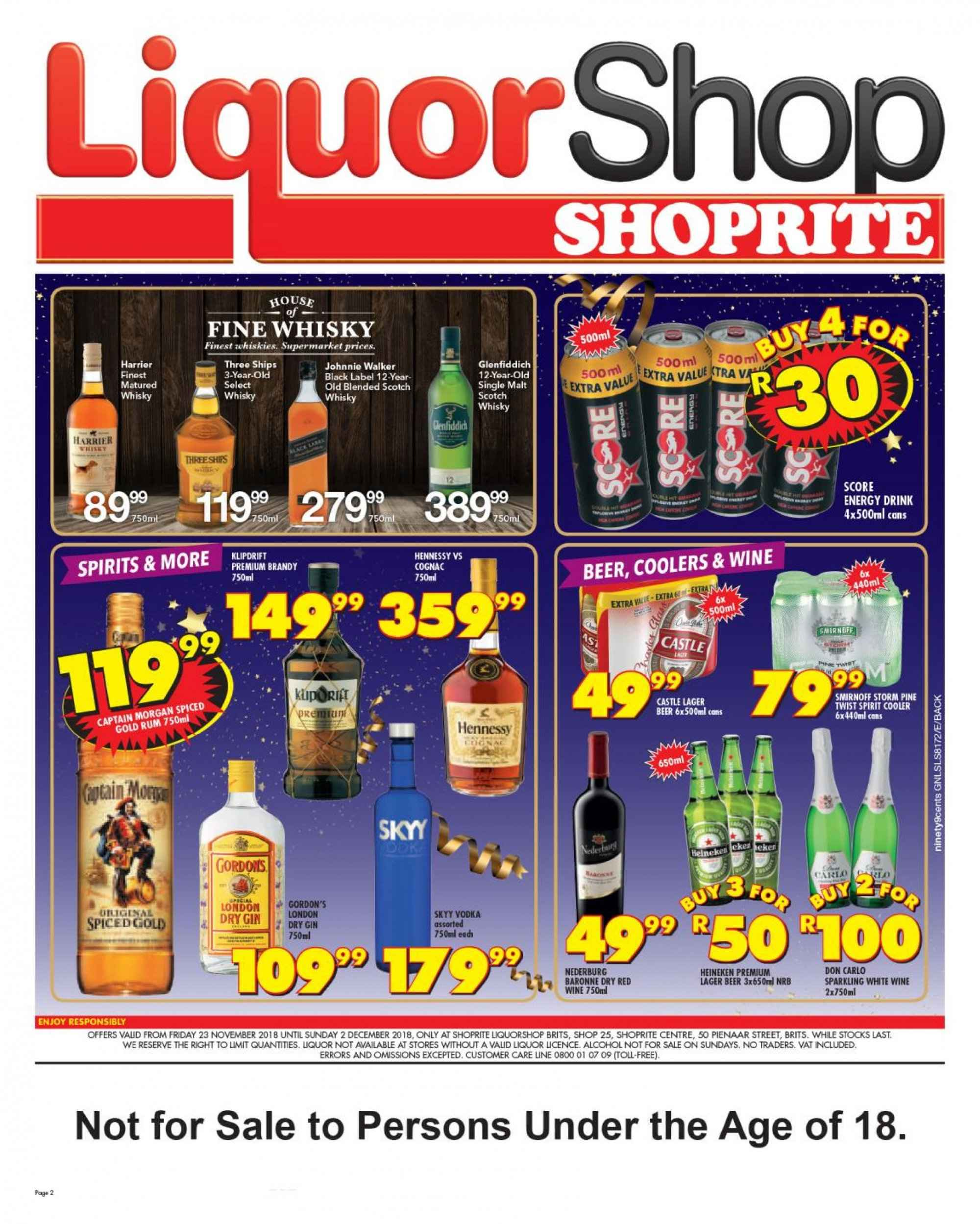 Shoprite catalogue  - 11.23.2018 - 12.02.2018. Page 2.