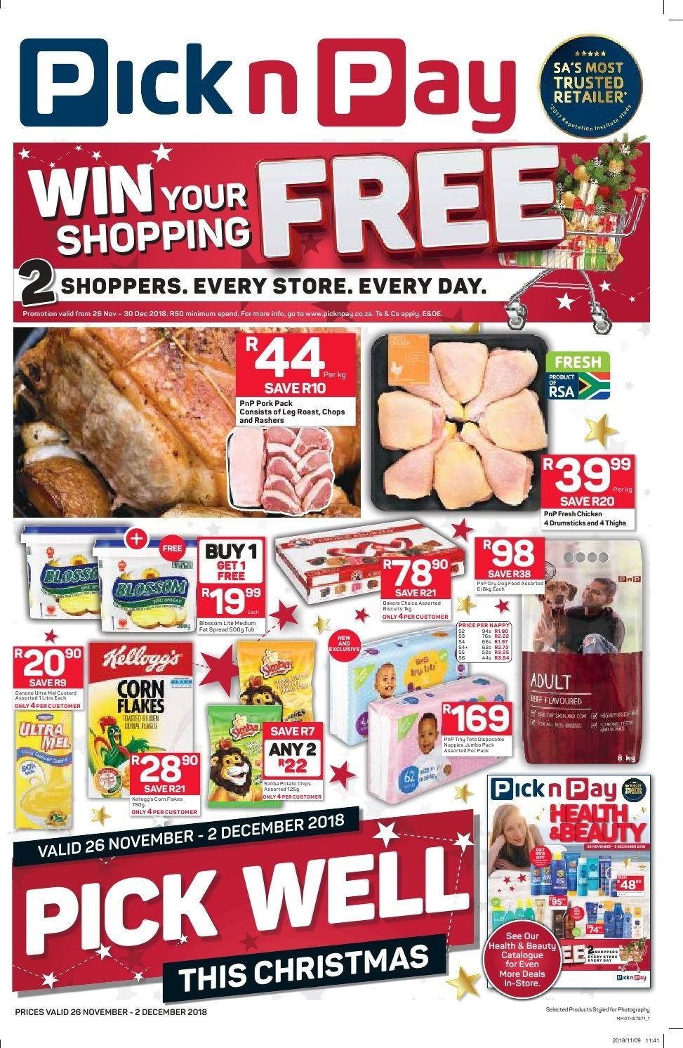 Pick n Pay catalogue  - 11.26.2018 - 12.02.2018. Page 1.