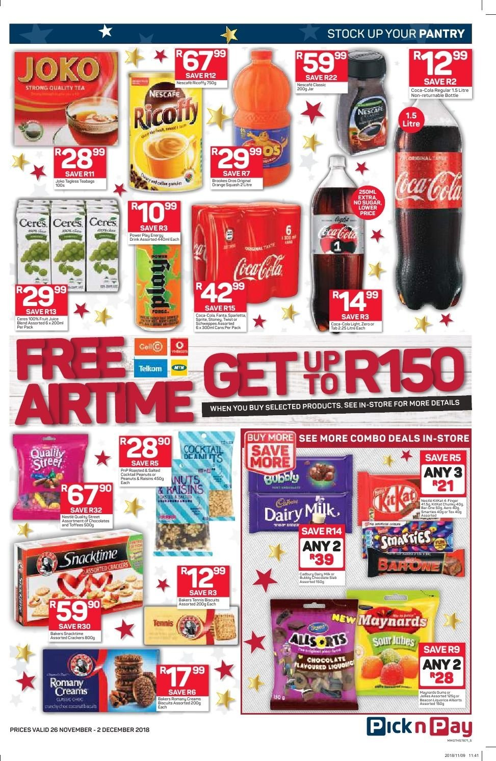 Pick n Pay catalogue  - 11.26.2018 - 12.02.2018. Page 3.