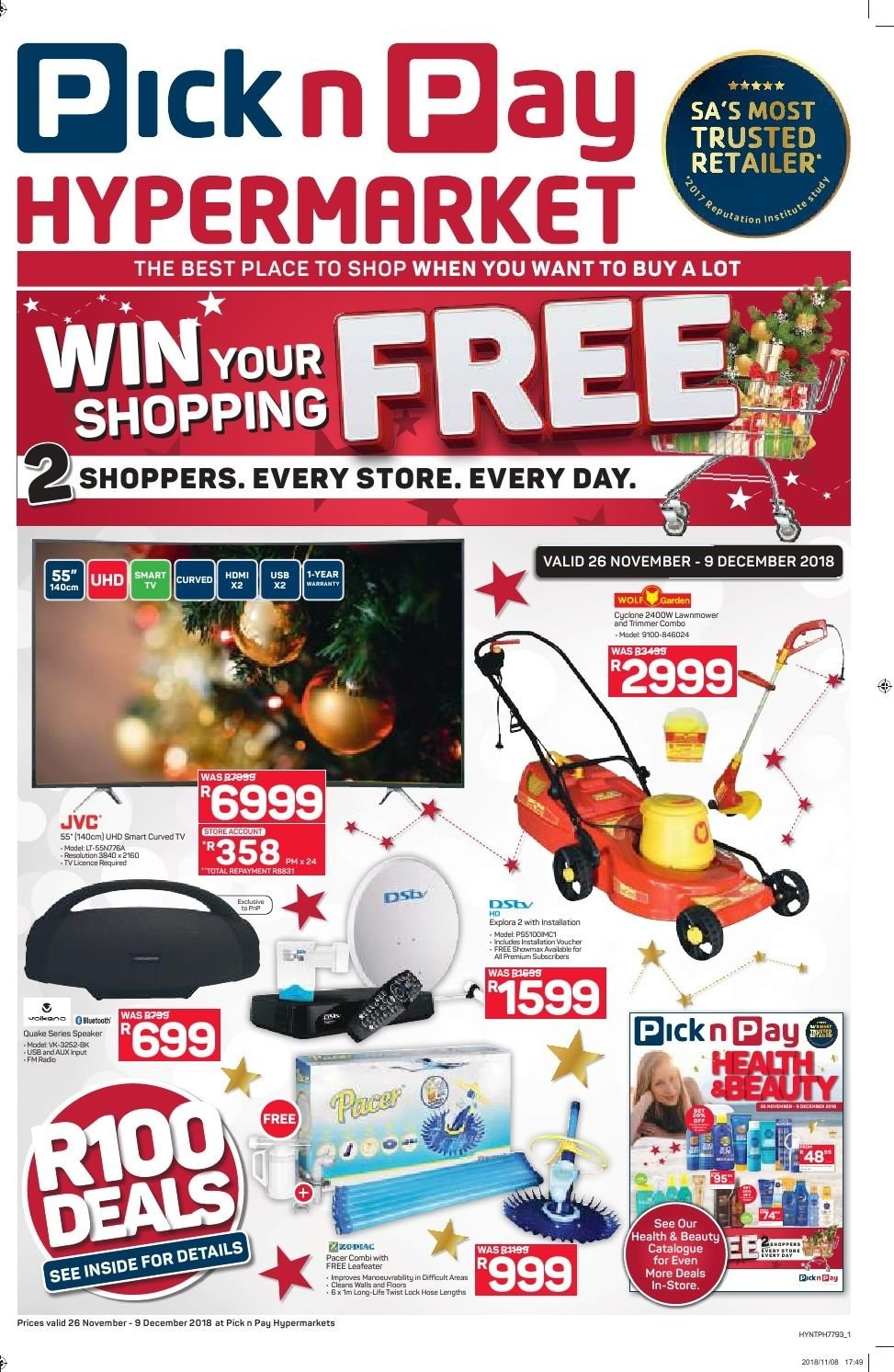 Pick n Pay catalogue  - 11.26.2018 - 12.09.2018. Page 1.