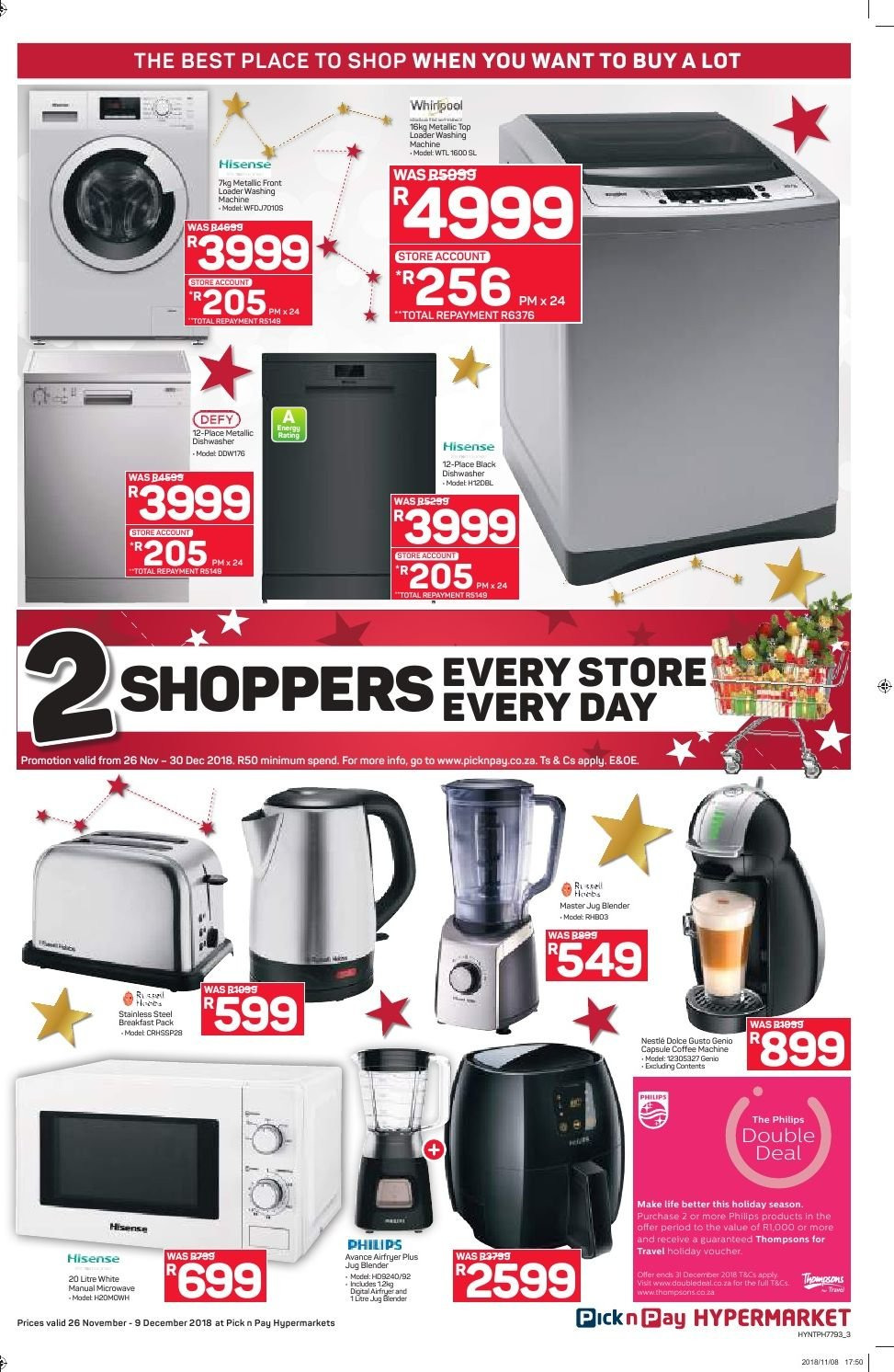 Pick n Pay catalogue  - 11.26.2018 - 12.09.2018. Page 3.