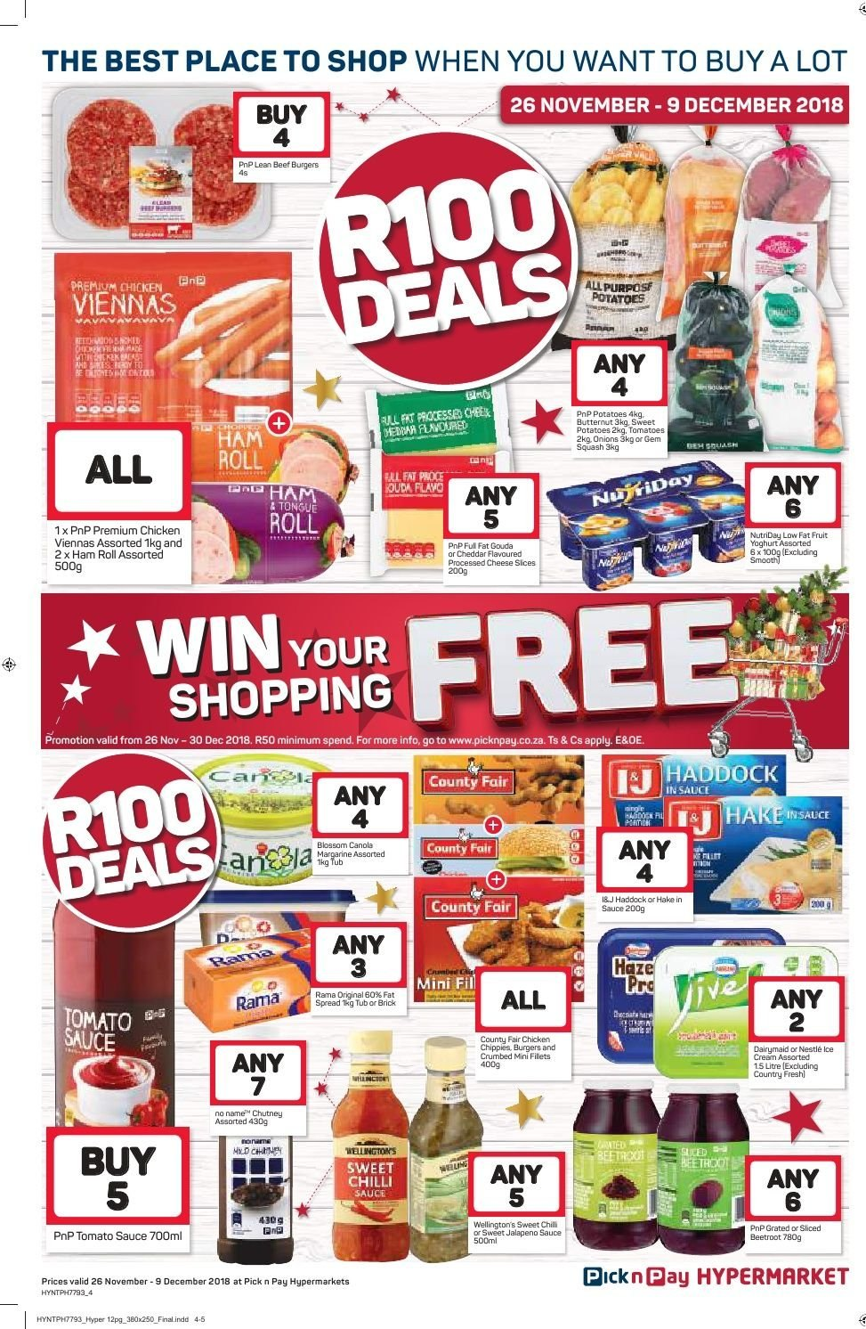 Pick n Pay catalogue  - 11.26.2018 - 12.09.2018. Page 4.