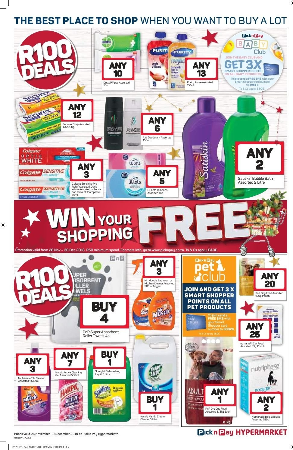 Pick n Pay catalogue  - 11.26.2018 - 12.09.2018. Page 6.
