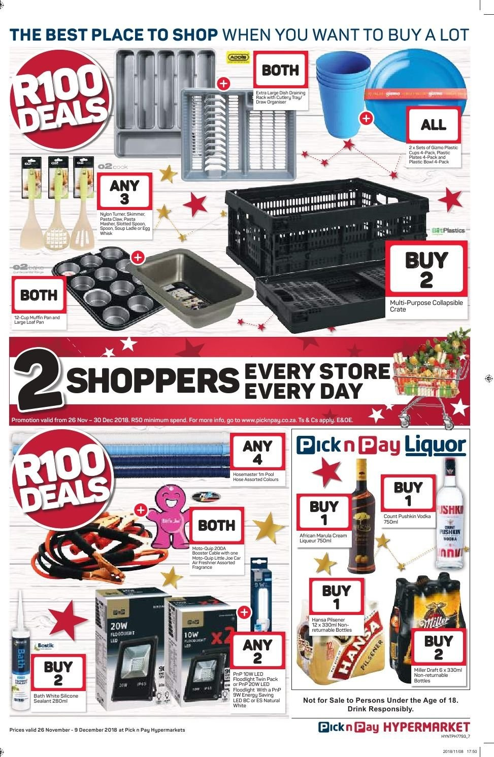 Pick n Pay catalogue  - 11.26.2018 - 12.09.2018. Page 7.