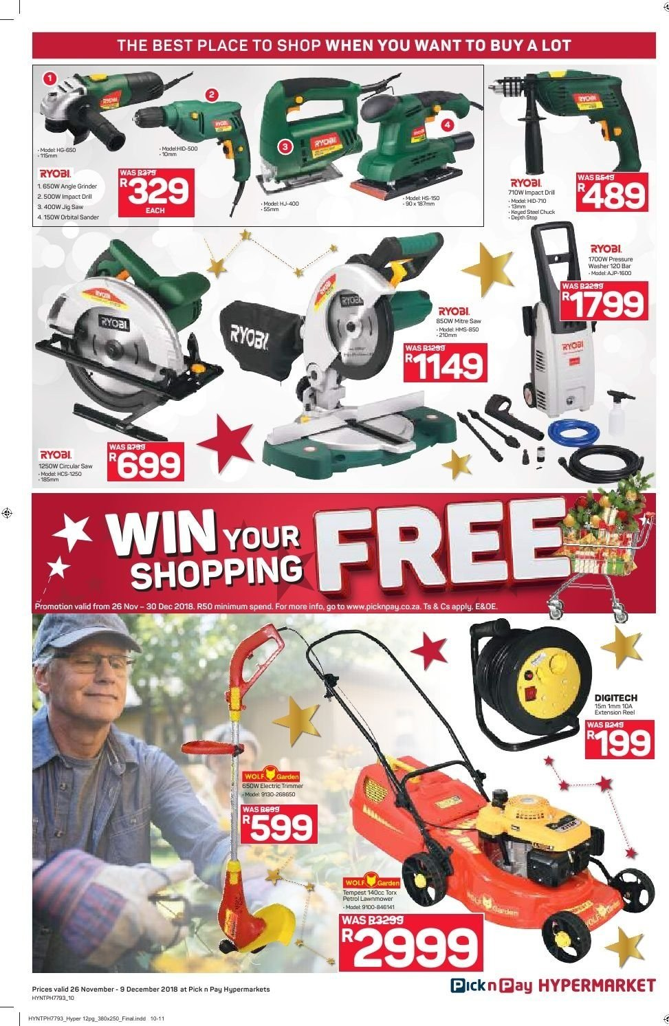 Pick n Pay catalogue  - 11.26.2018 - 12.09.2018. Page 10.