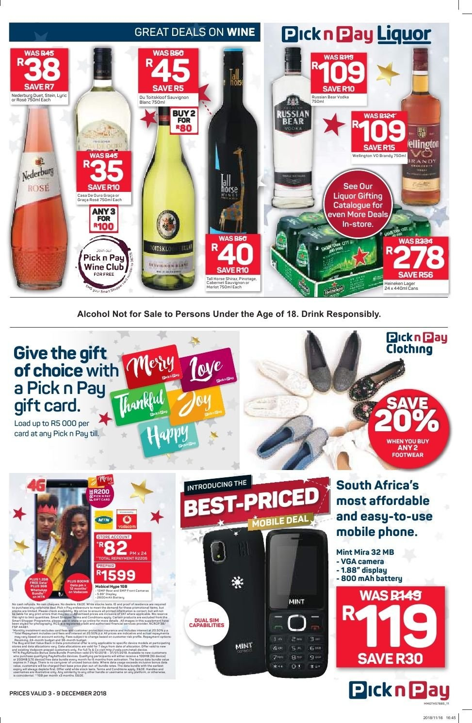 Pick n Pay catalogue  - 12.03.2018 - 12.09.2018. Page 9.