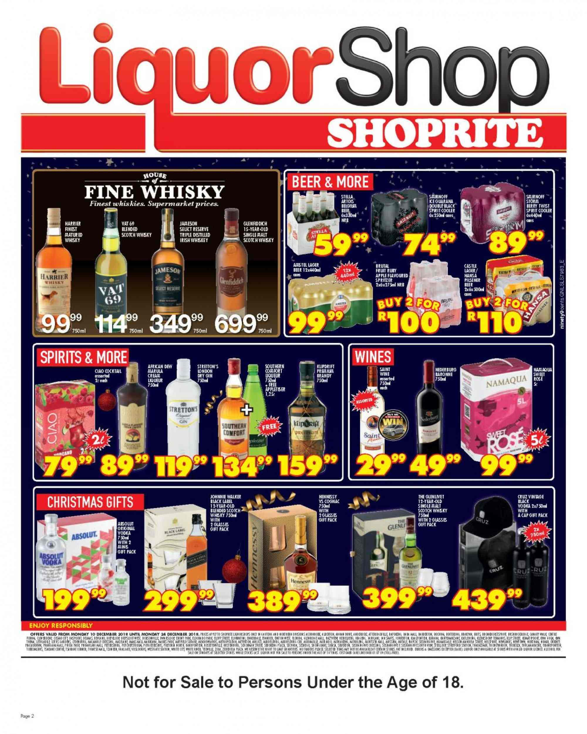 Shoprite catalogue  - 12.10.2018 - 12.24.2018. Page 2.