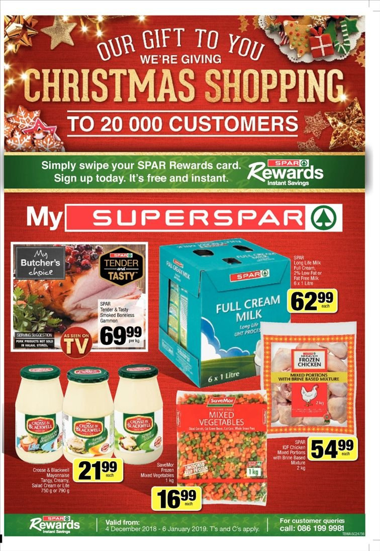 SPAR catalogue  - 12.10.2018 - 12.23.2018. Page 1.