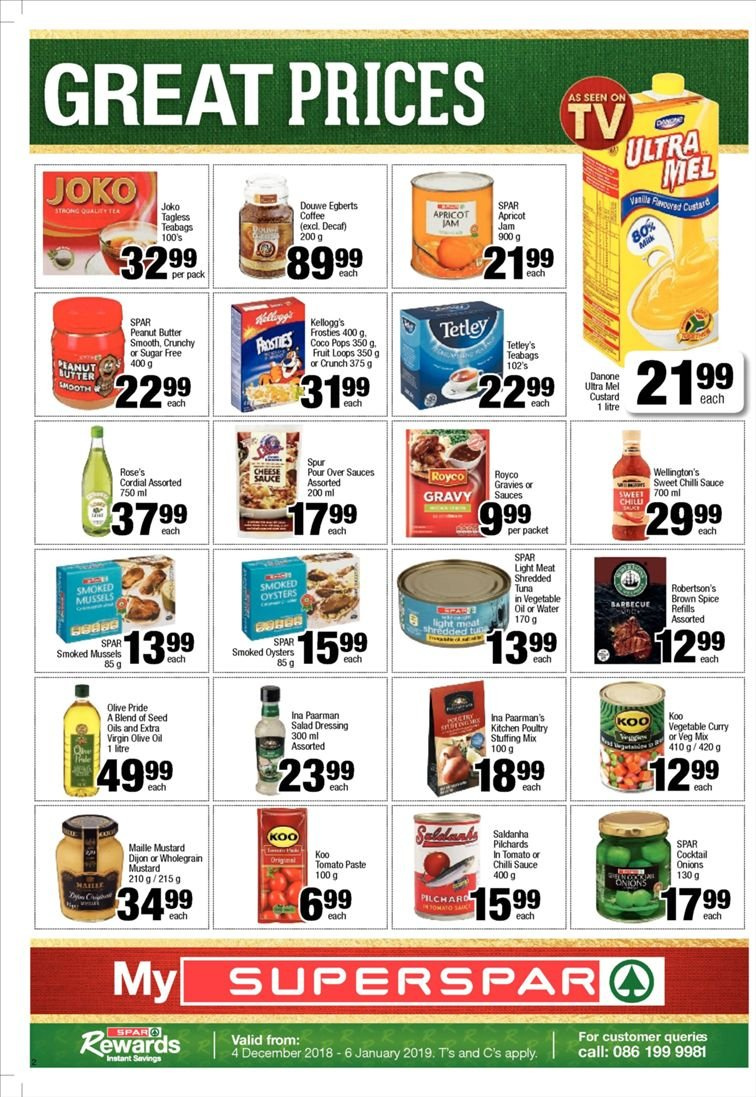 SPAR catalogue  - 12.10.2018 - 12.23.2018. Page 2.