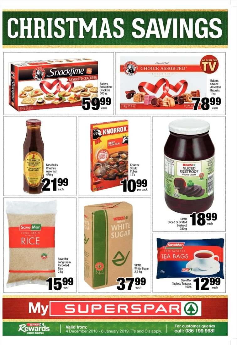 SPAR catalogue  - 12.10.2018 - 12.23.2018. Page 3.