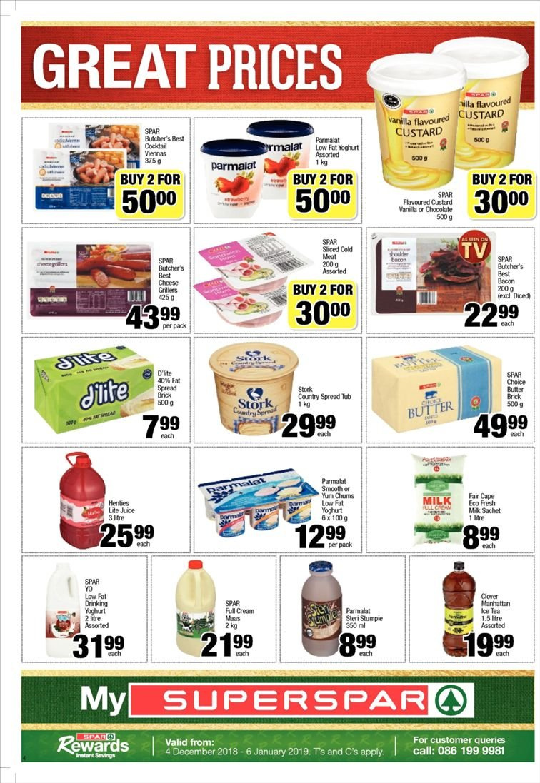 SPAR catalogue  - 12.10.2018 - 12.23.2018. Page 4.