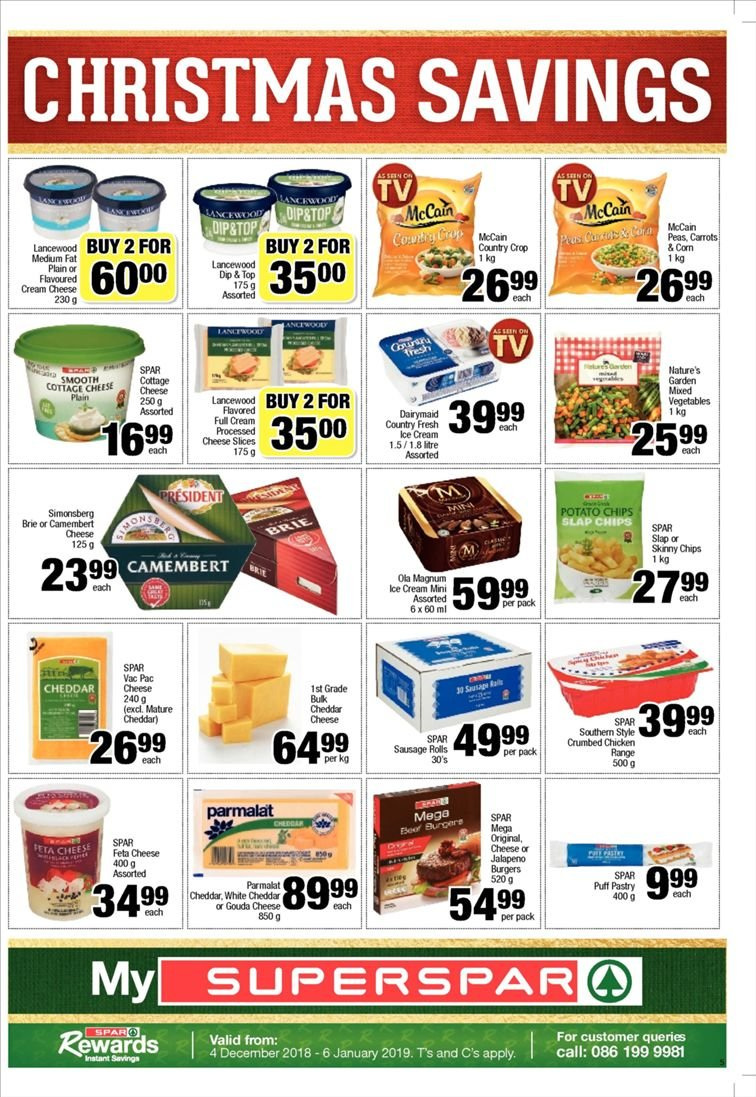 SPAR catalogue  - 12.10.2018 - 12.23.2018. Page 5.
