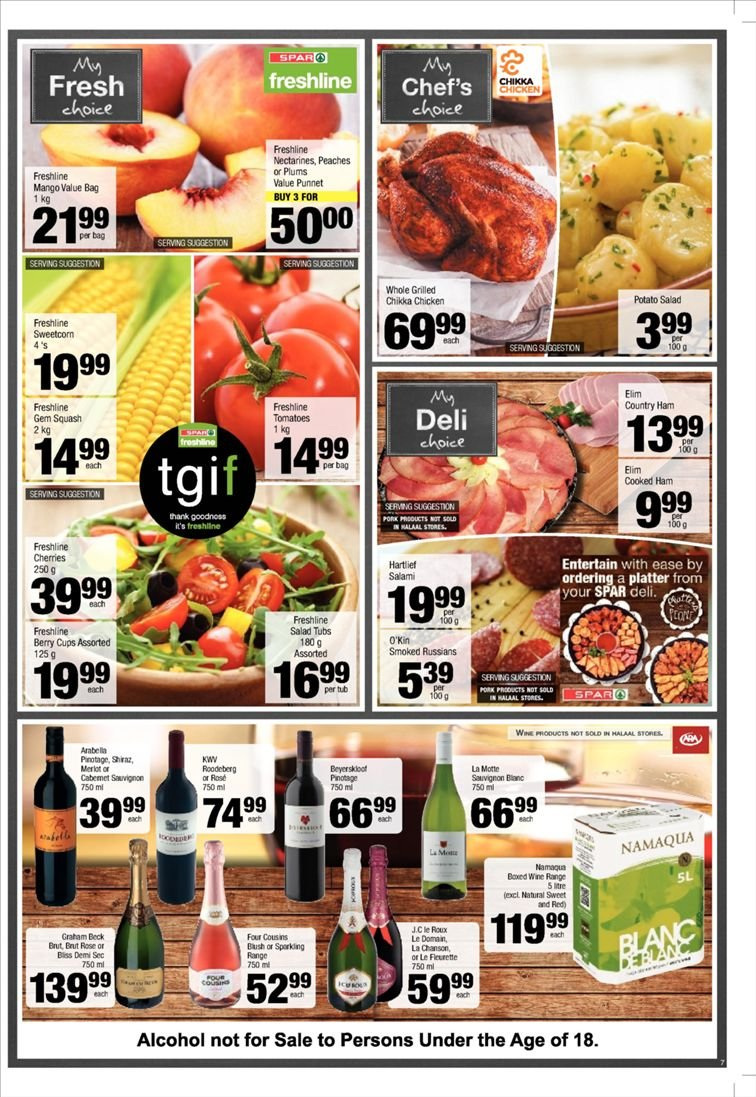 SPAR catalogue  - 12.10.2018 - 12.23.2018. Page 7.