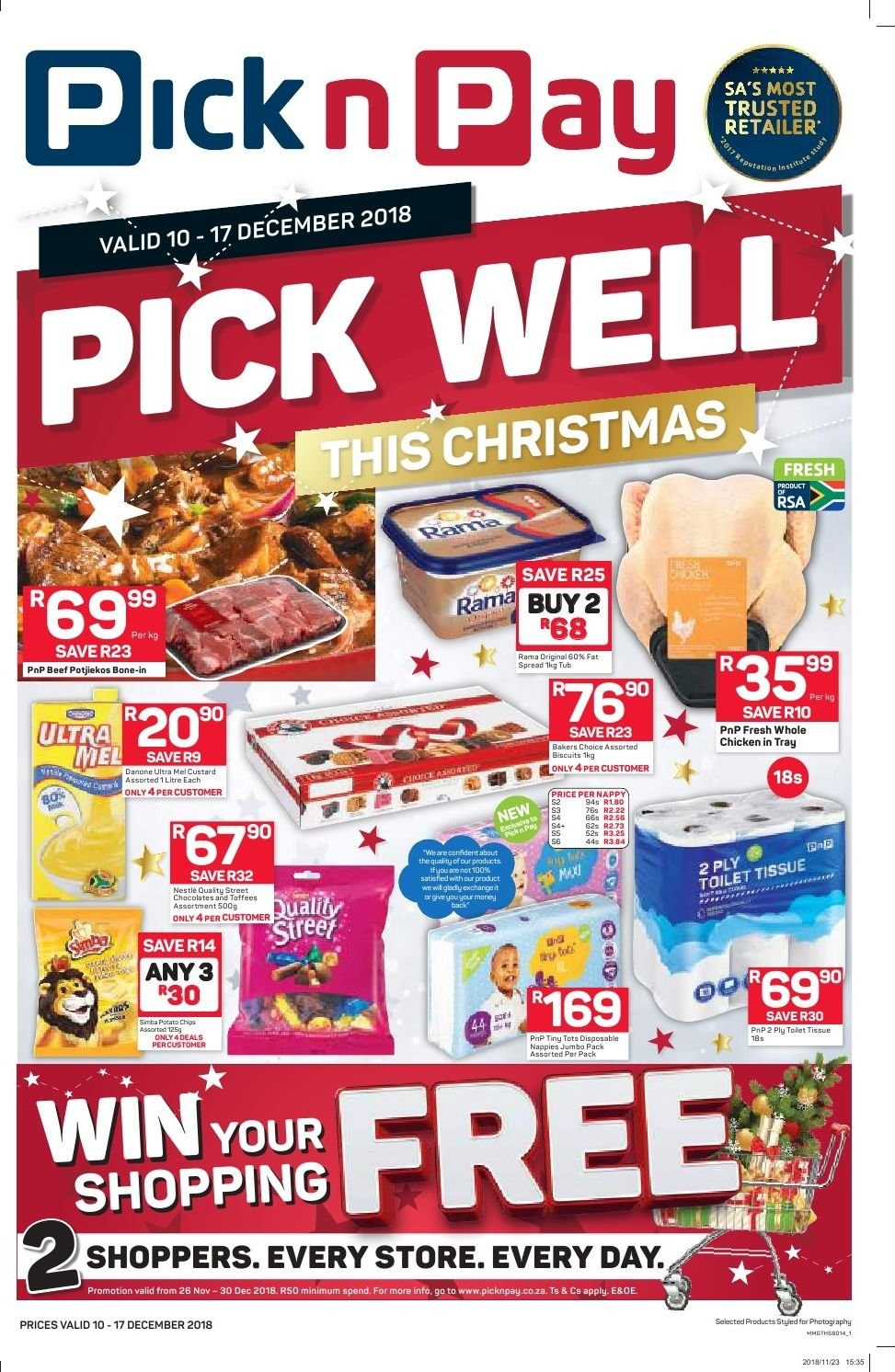 Pick n Pay catalogue  - 12.10.2018 - 12.17.2018. Page 1.