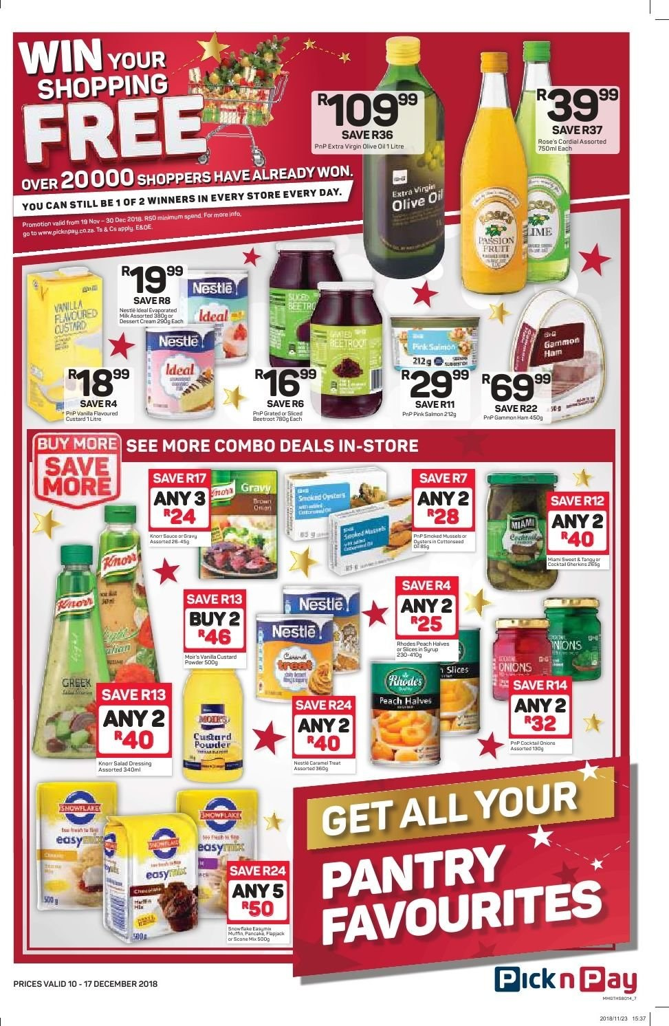 Pick n Pay catalogue  - 12.10.2018 - 12.17.2018. Page 5.