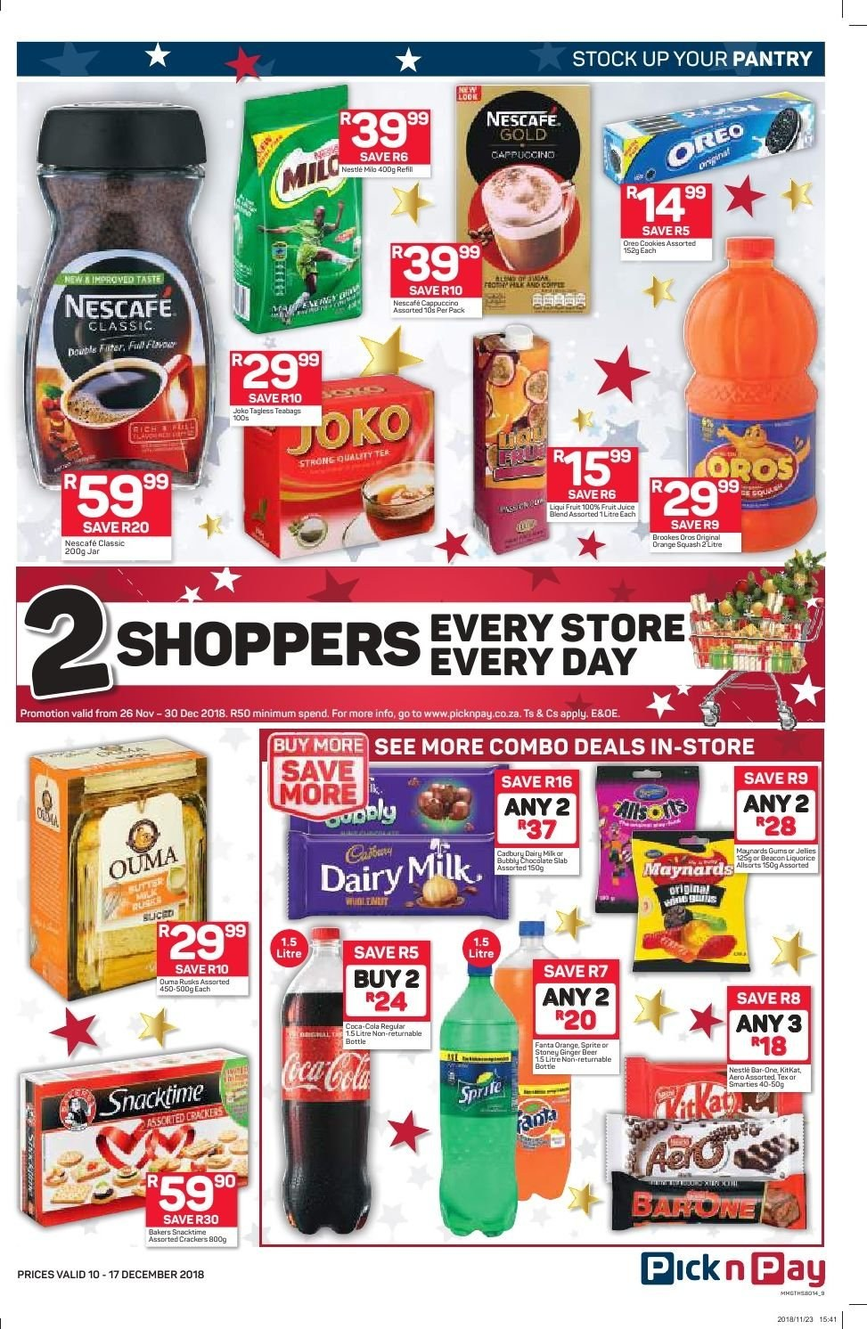 Pick n Pay catalogue  - 12.10.2018 - 12.17.2018. Page 7.