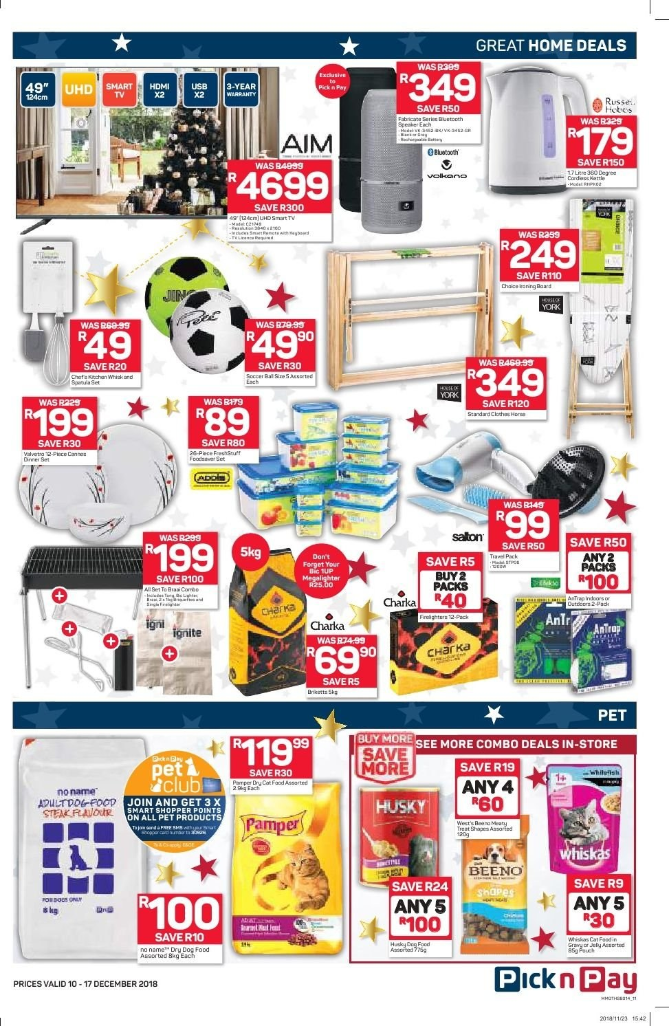 Pick n Pay catalogue  - 12.10.2018 - 12.17.2018. Page 9.