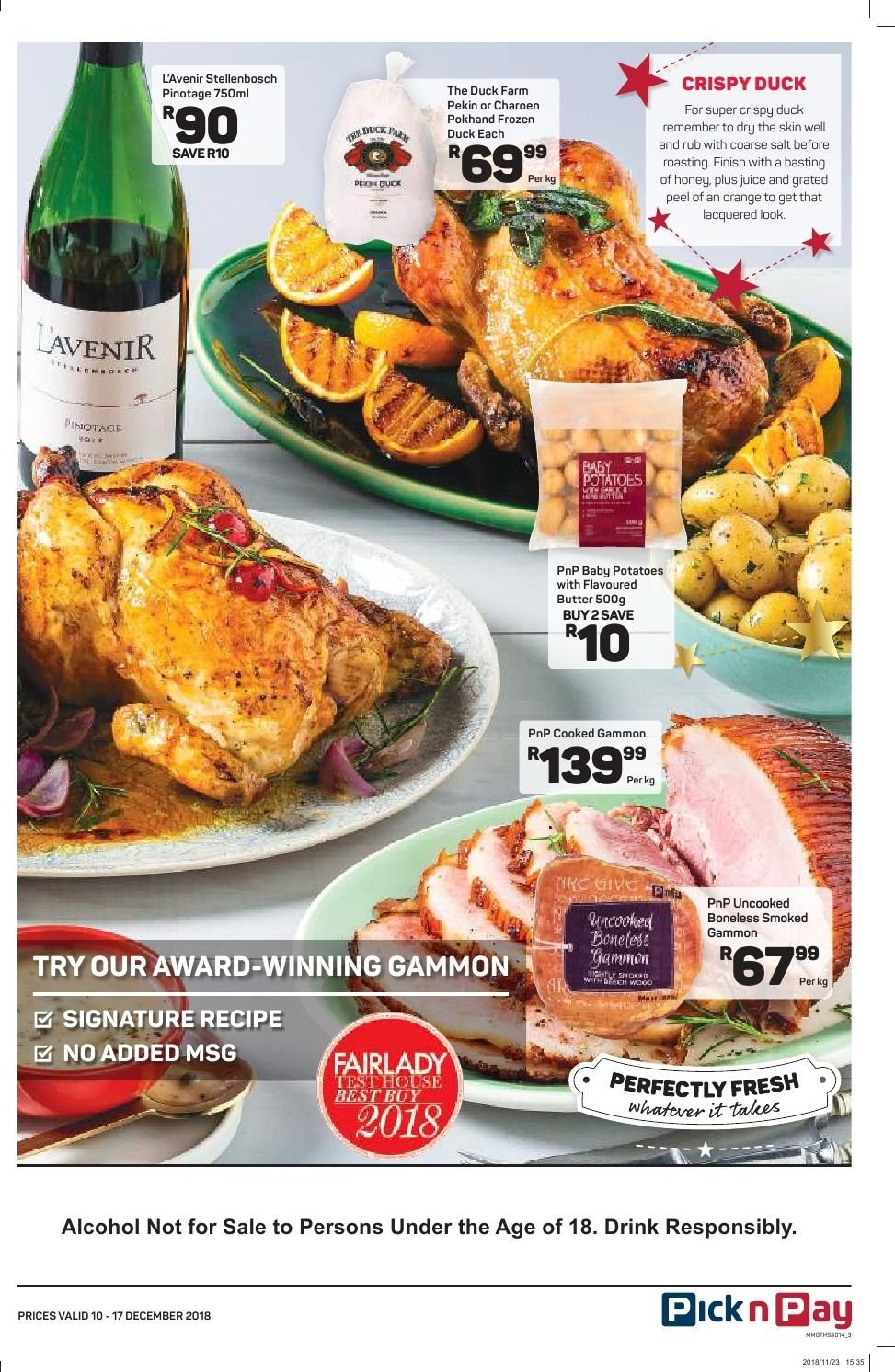 Pick n Pay catalogue  - 12.10.2018 - 12.17.2018. Page 11.