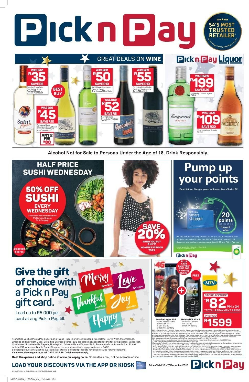 Pick n Pay catalogue  - 12.10.2018 - 12.17.2018. Page 12.