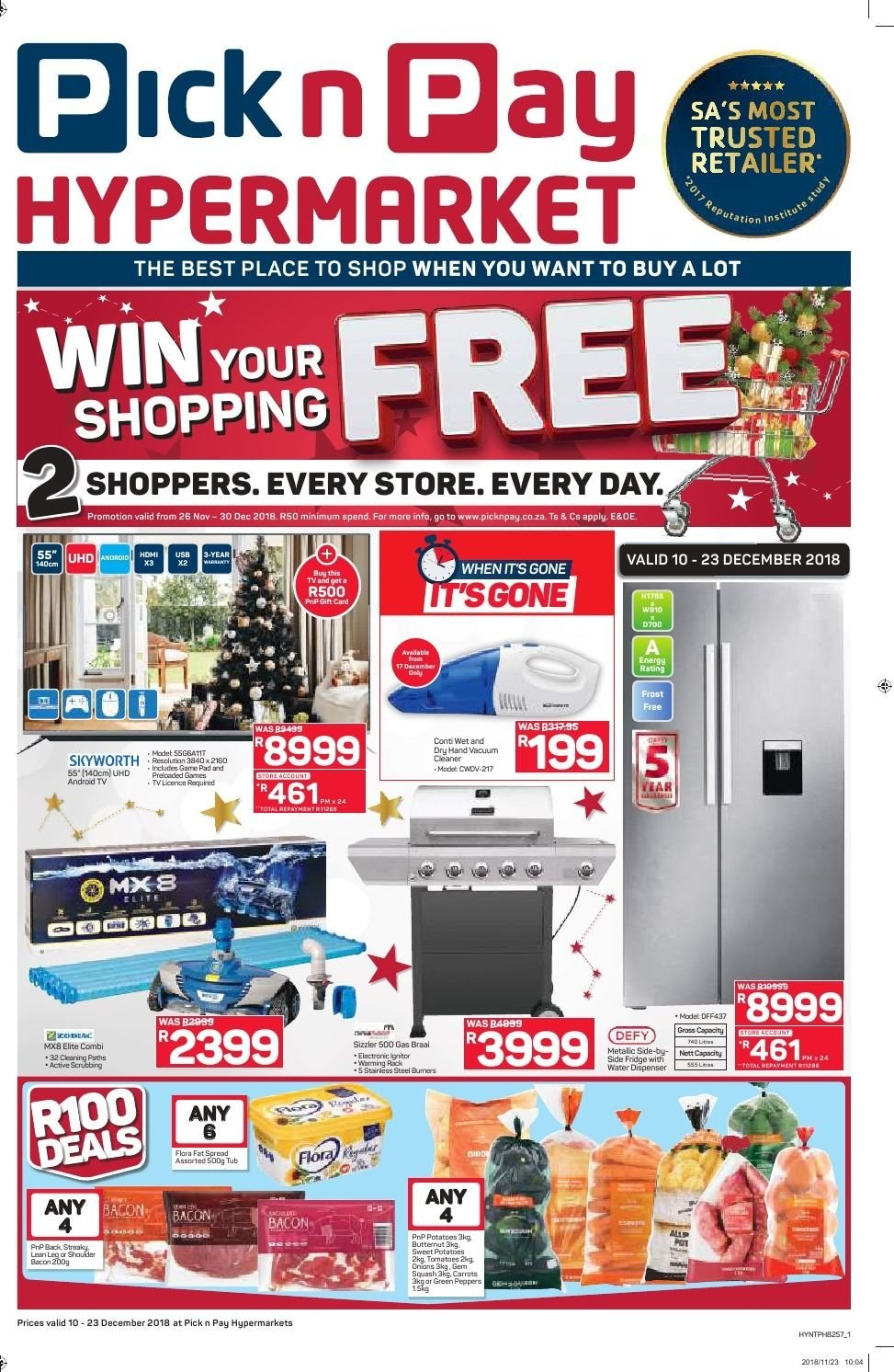Pick n Pay catalogue  - 12.10.2018 - 12.23.2018. Page 1.