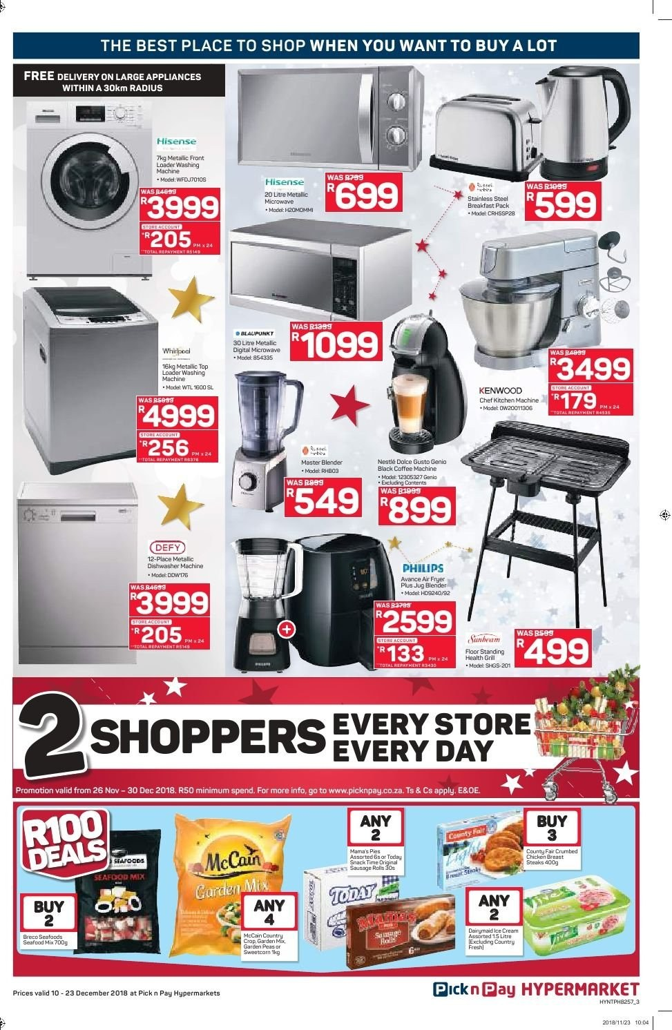 Pick n Pay catalogue  - 12.10.2018 - 12.23.2018. Page 3.