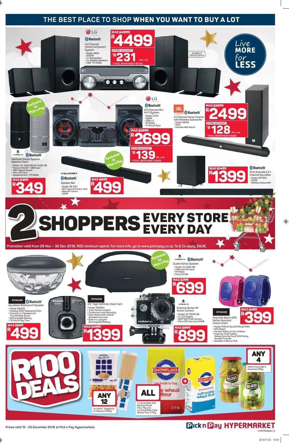 Pick n Pay catalogue  - 12.10.2018 - 12.23.2018. Page 5.