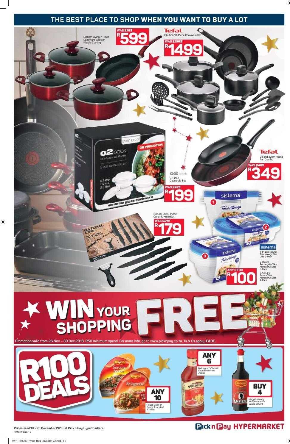 Pick n Pay catalogue  - 12.10.2018 - 12.23.2018. Page 6.