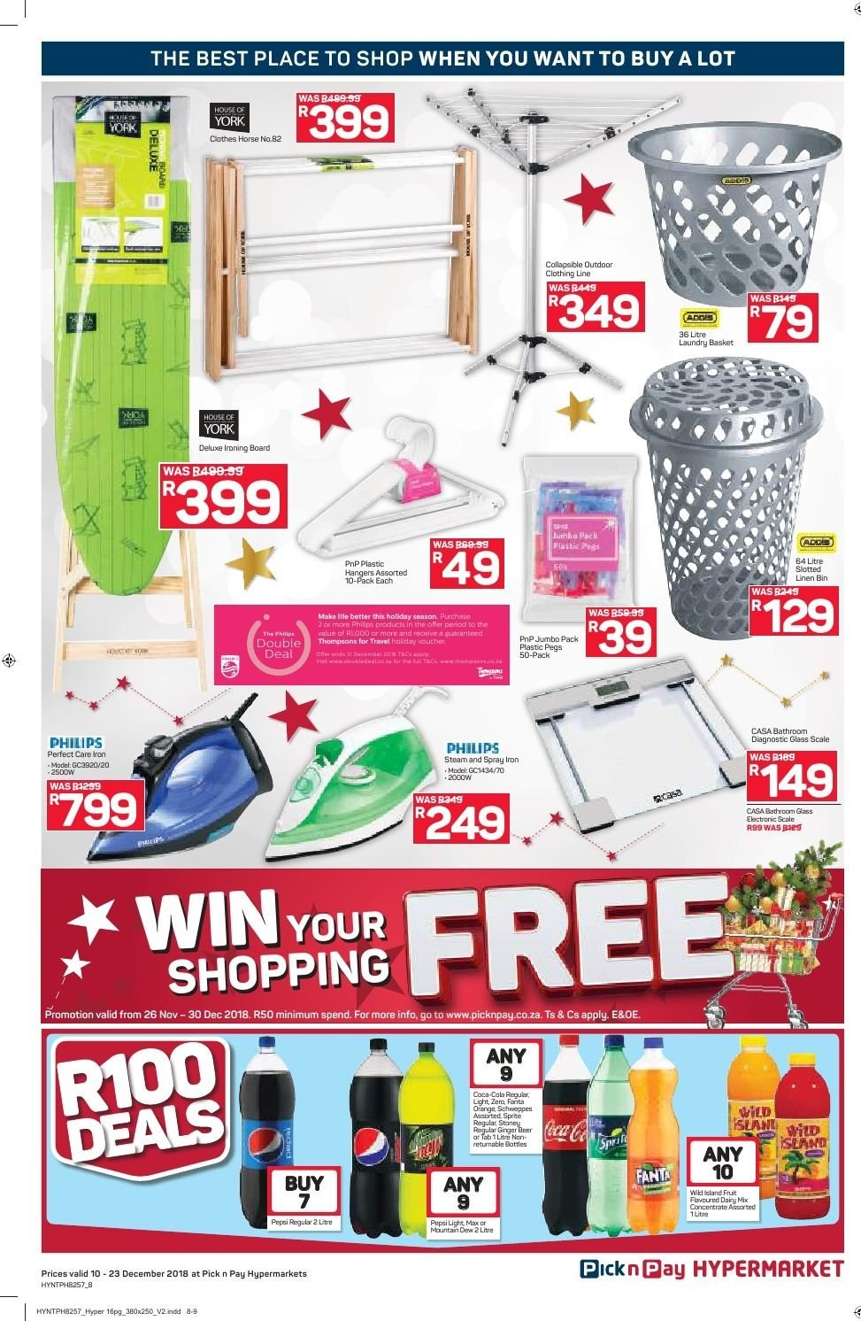 Pick n Pay catalogue  - 12.10.2018 - 12.23.2018. Page 8.