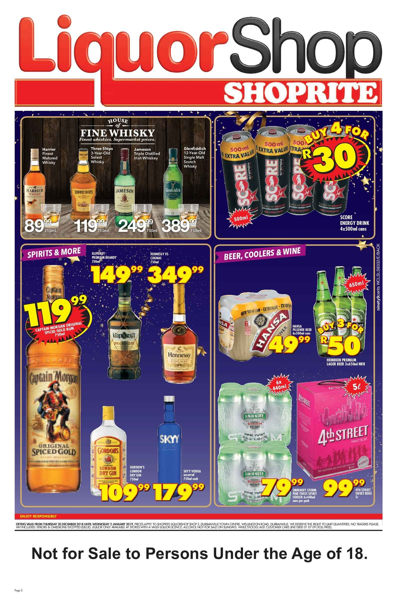 Shoprite catalogue  - 12.20.2018 - 01.02.2019. Page 2.