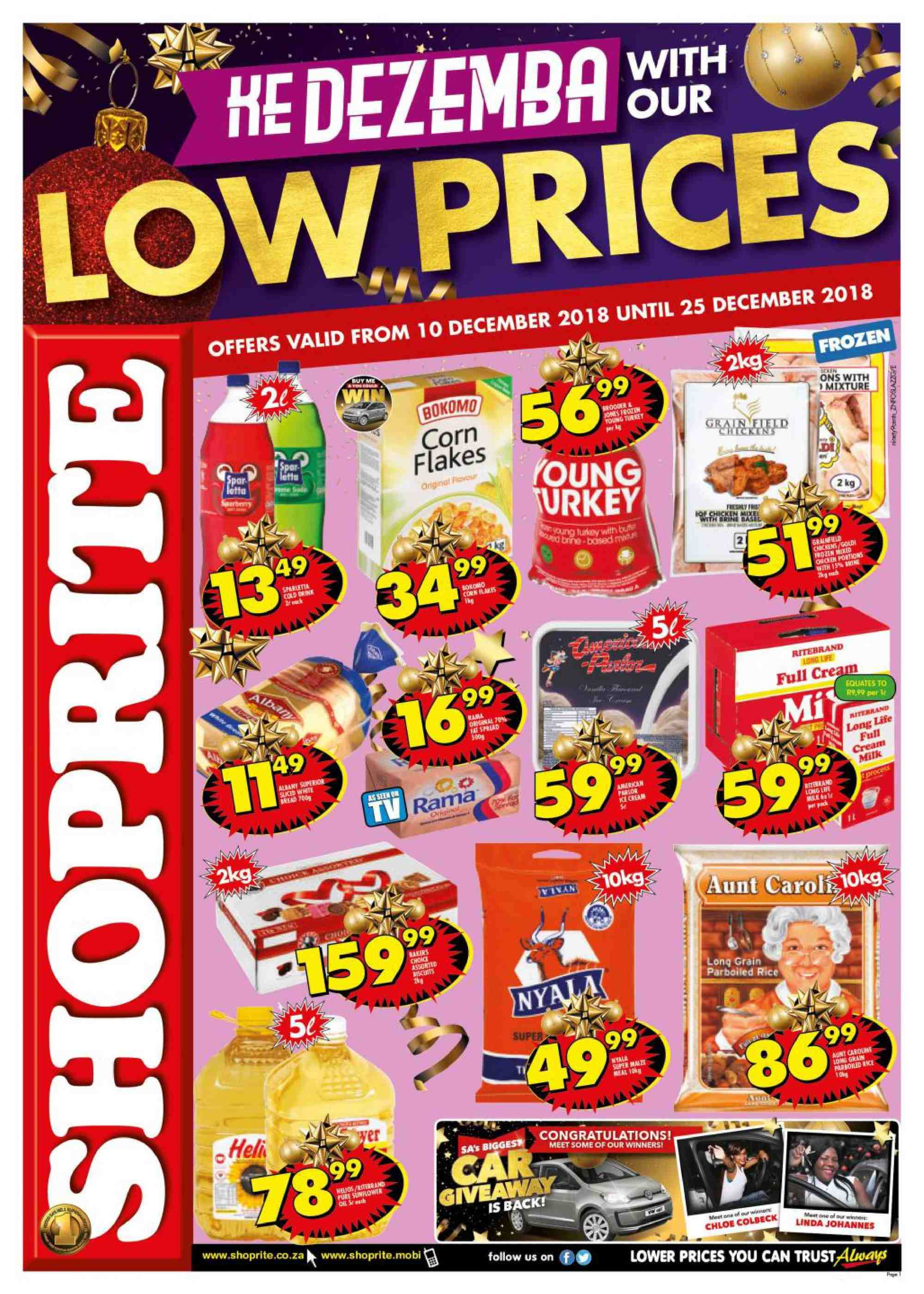 Shoprite catalogue  - 12.10.2018 - 12.25.2018. Page 1.